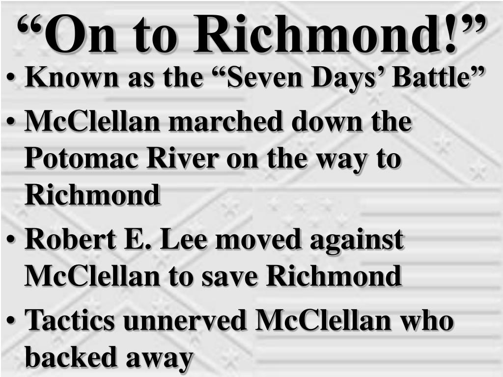 """On to Richmond!"""