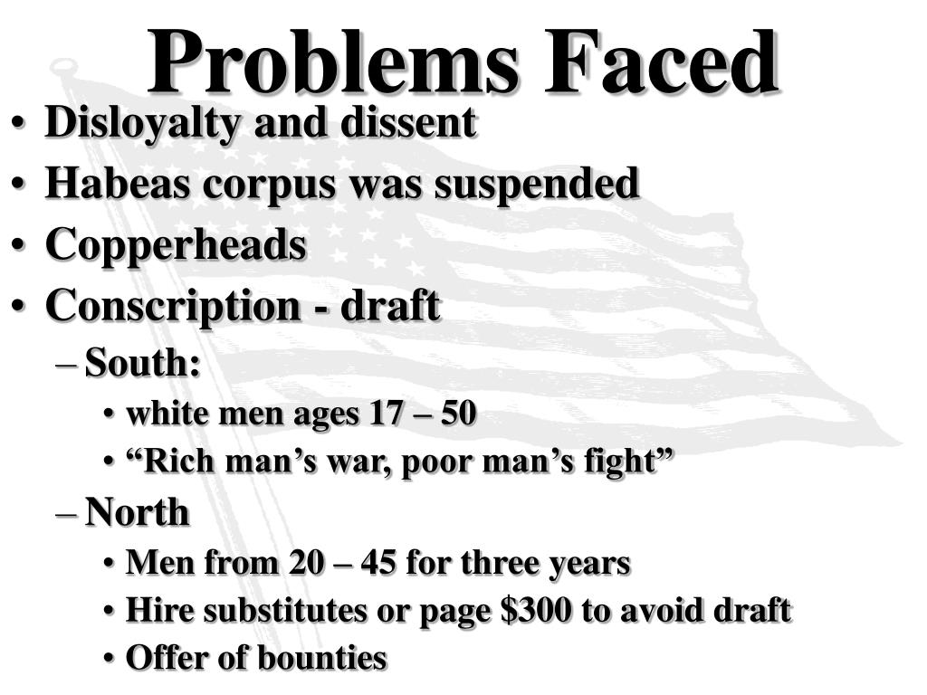 Problems Faced