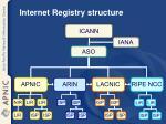 internet registry structure
