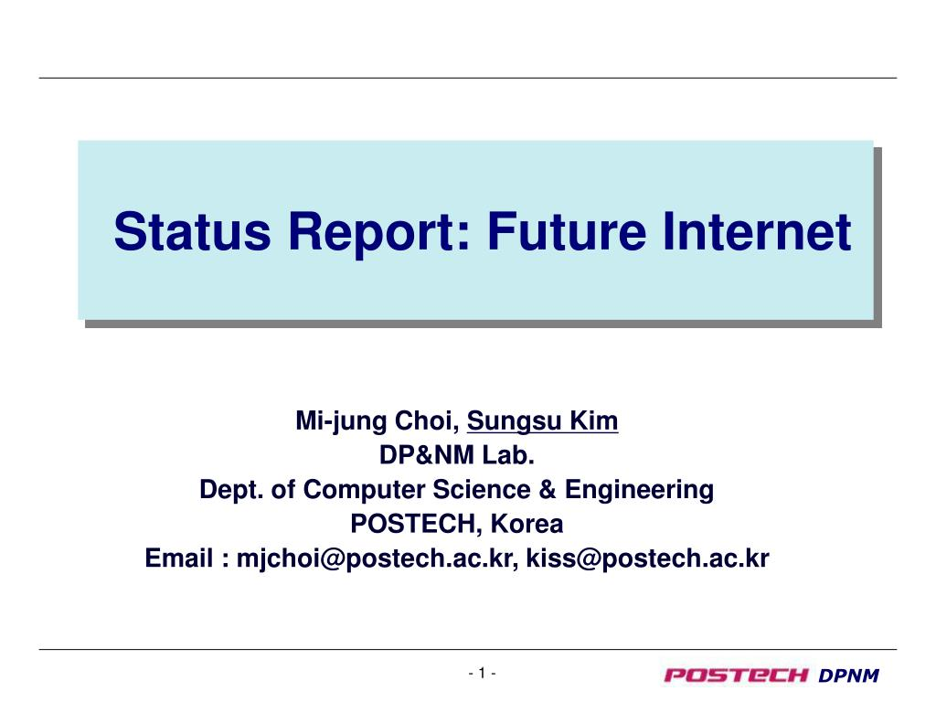 status report future internet l.