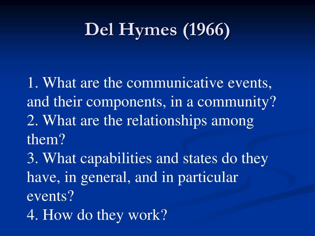 Del Hymes (1966)