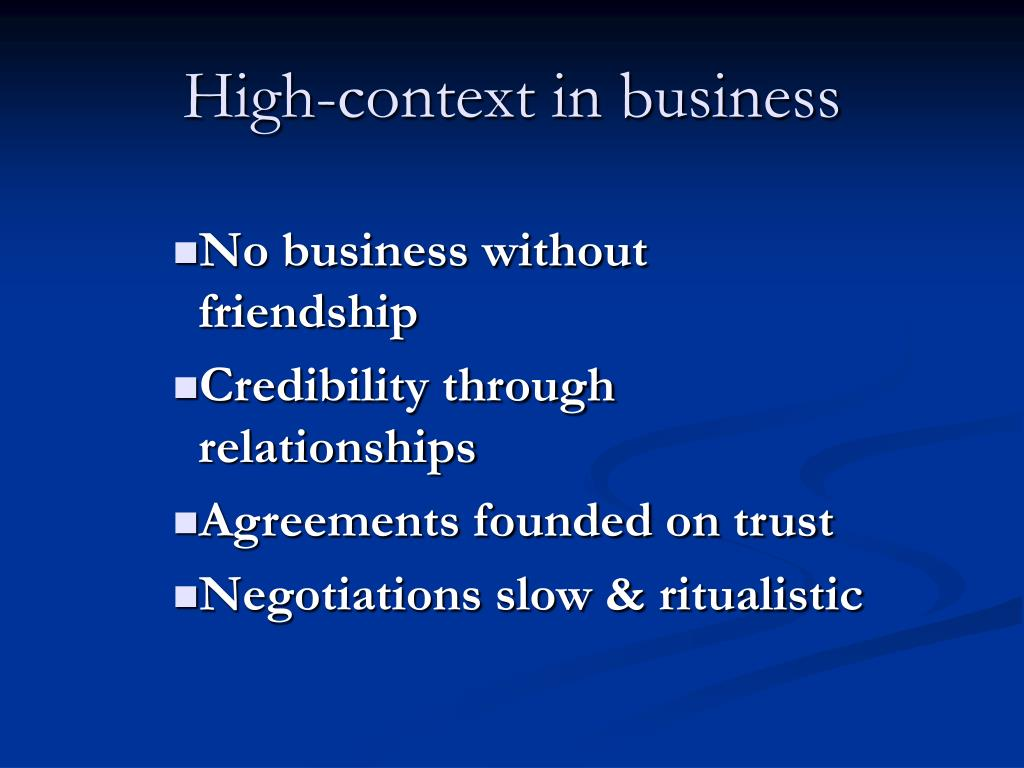 High-context in business