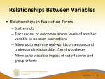 relationships between variables40