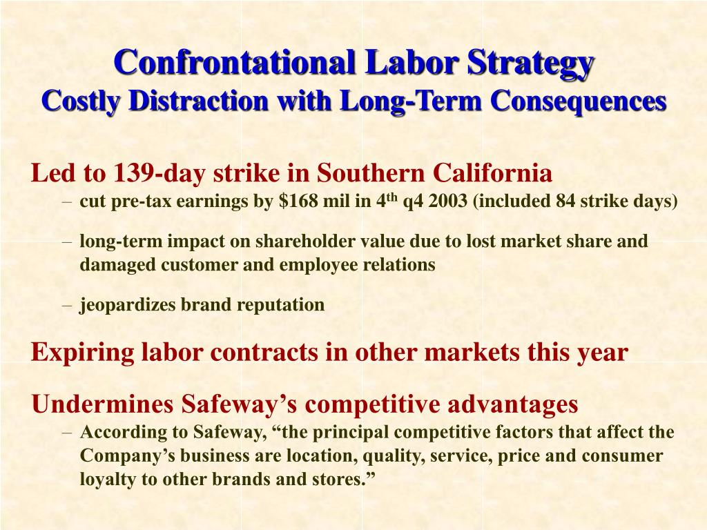 Confrontational Labor Strategy