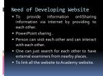 need of developing website16