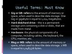 useful terms must know8