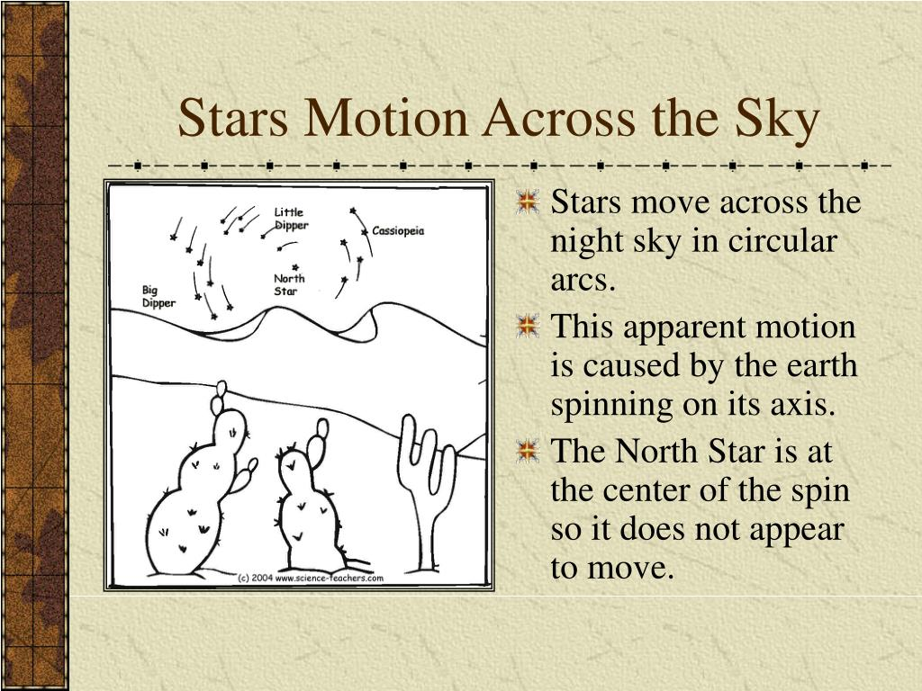 Stars Motion Across the Sky