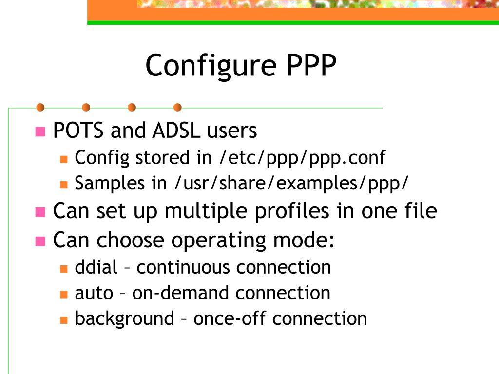 Configure PPP