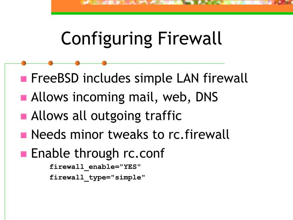 Configuring Firewall
