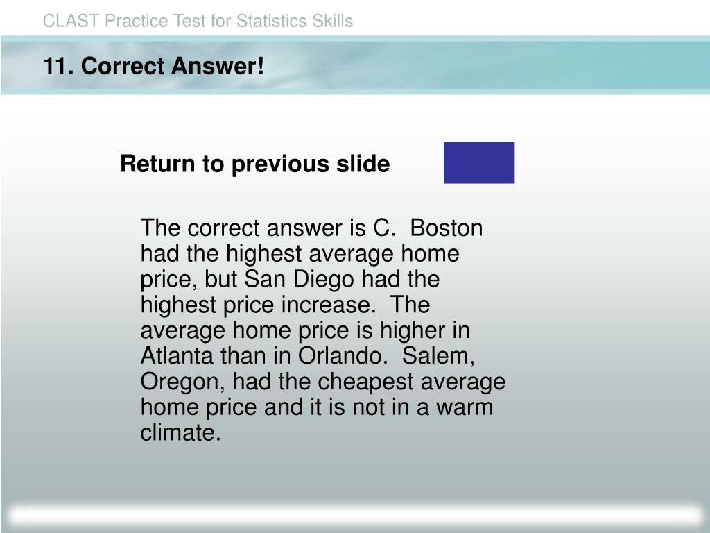 11. Correct Answer!