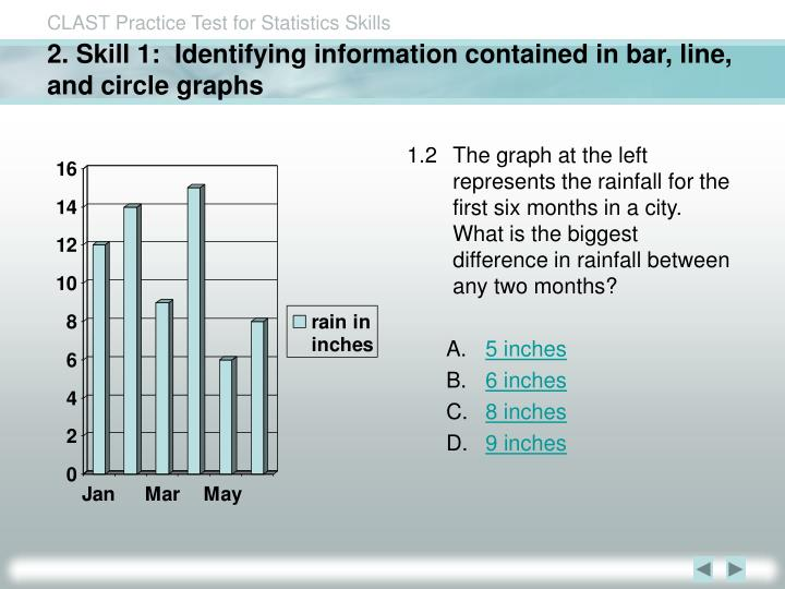 2 skill 1 identifying information contained in bar line and circle graphs
