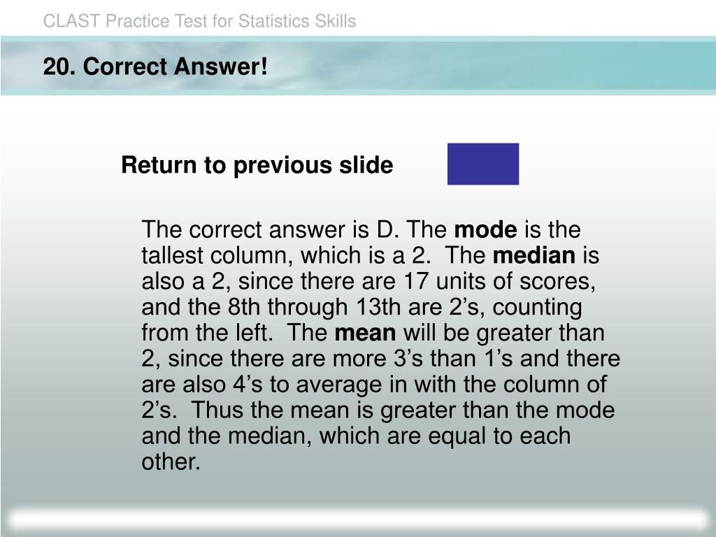 20. Correct Answer!