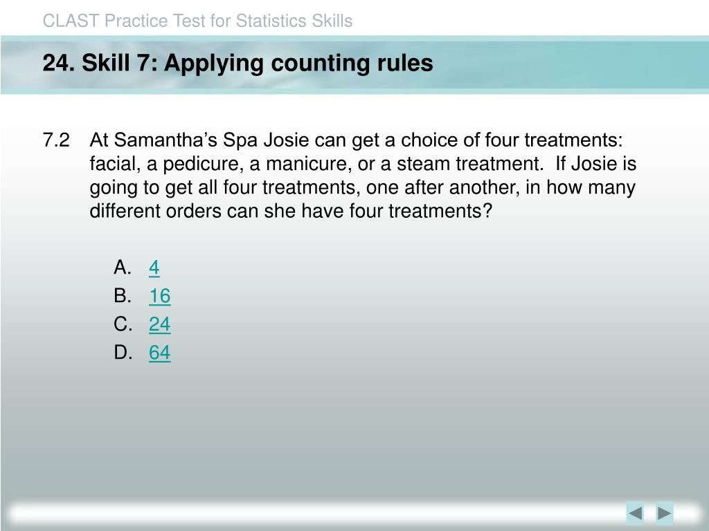 24. Skill 7: Applying counting rules