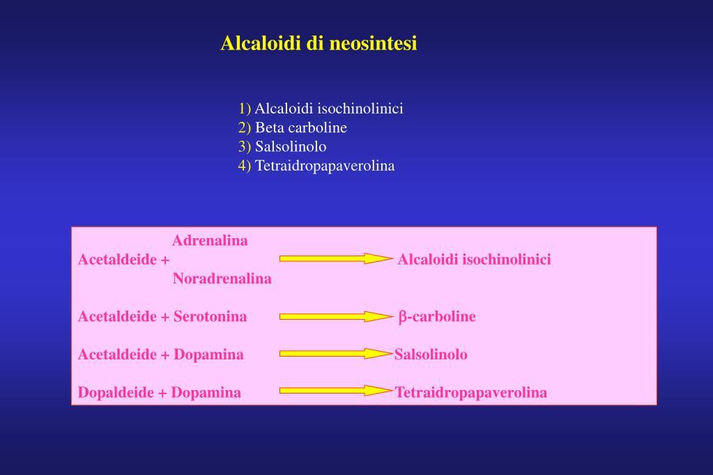 Alcaloidi di neosintesi