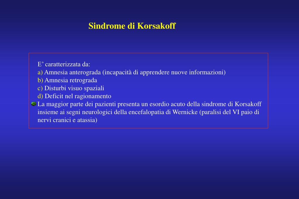 Sindrome di Korsakoff