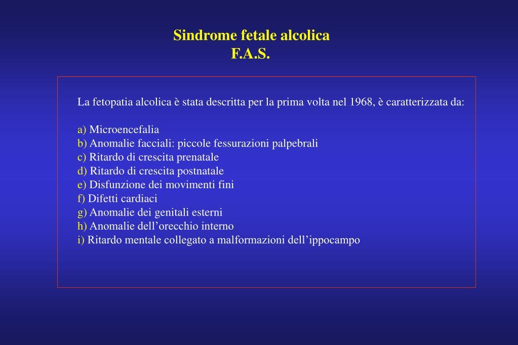 Sindrome fetale alcolica