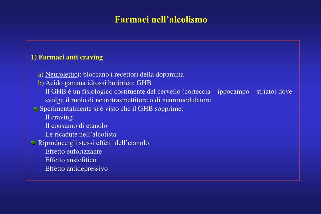 Farmaci nell'alcolismo