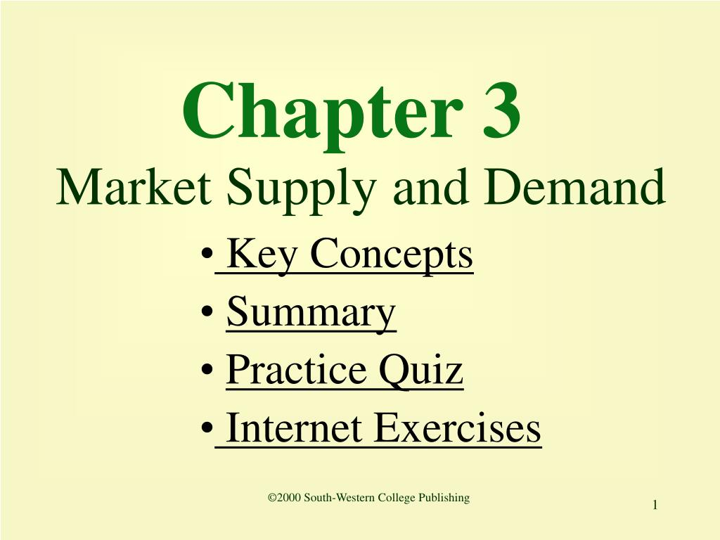 chapter 3 market supply and demand l.