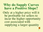 why do supply curves have a positive slope
