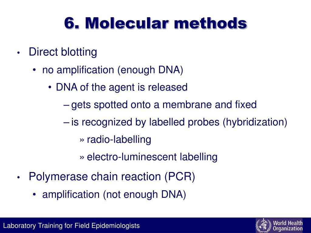 6. Molecular methods
