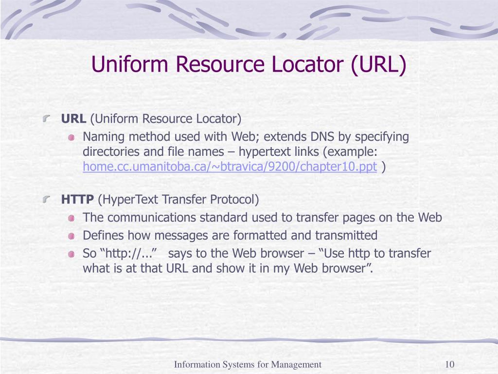 Uniform Resource Locator (URL)