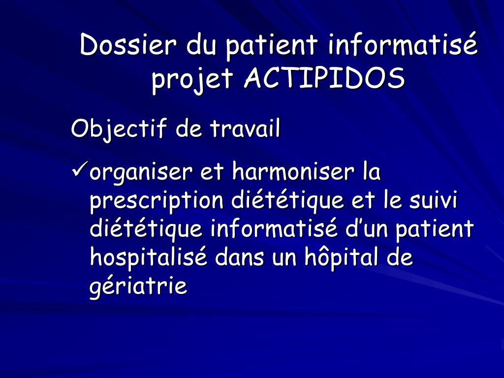 Dossier du patient informatisé