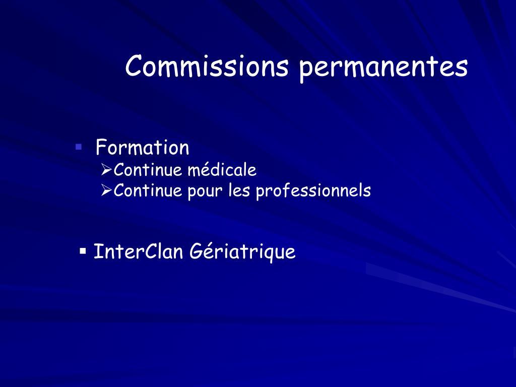 Commissions permanentes
