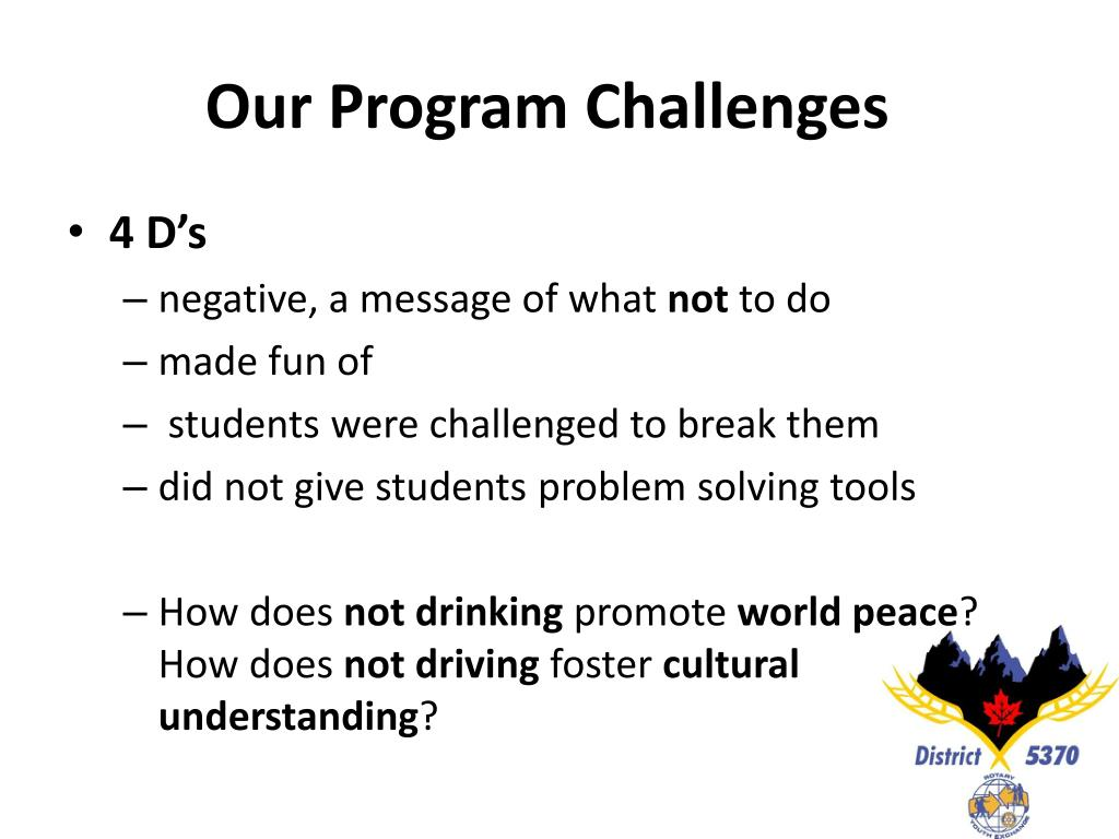 Our Program Challenges
