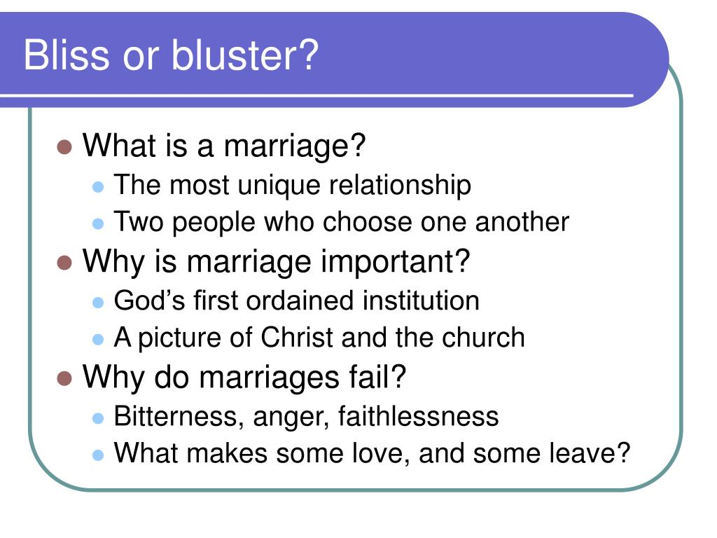 Bliss or bluster?