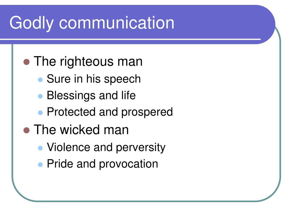 Godly communication
