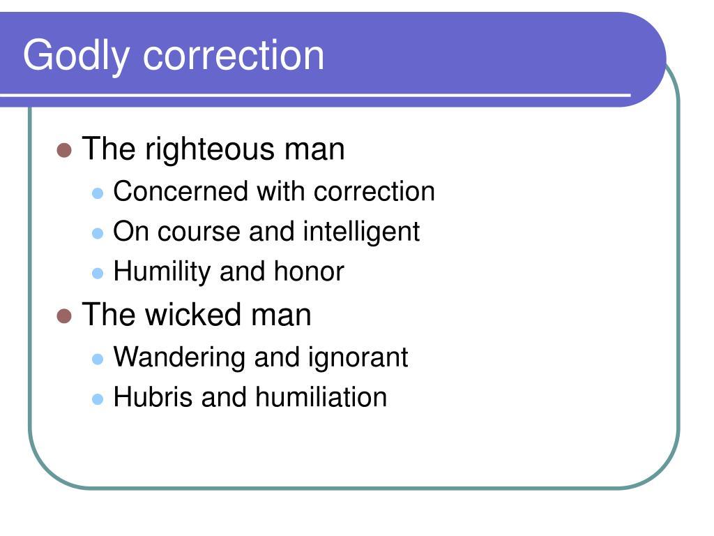 Godly correction