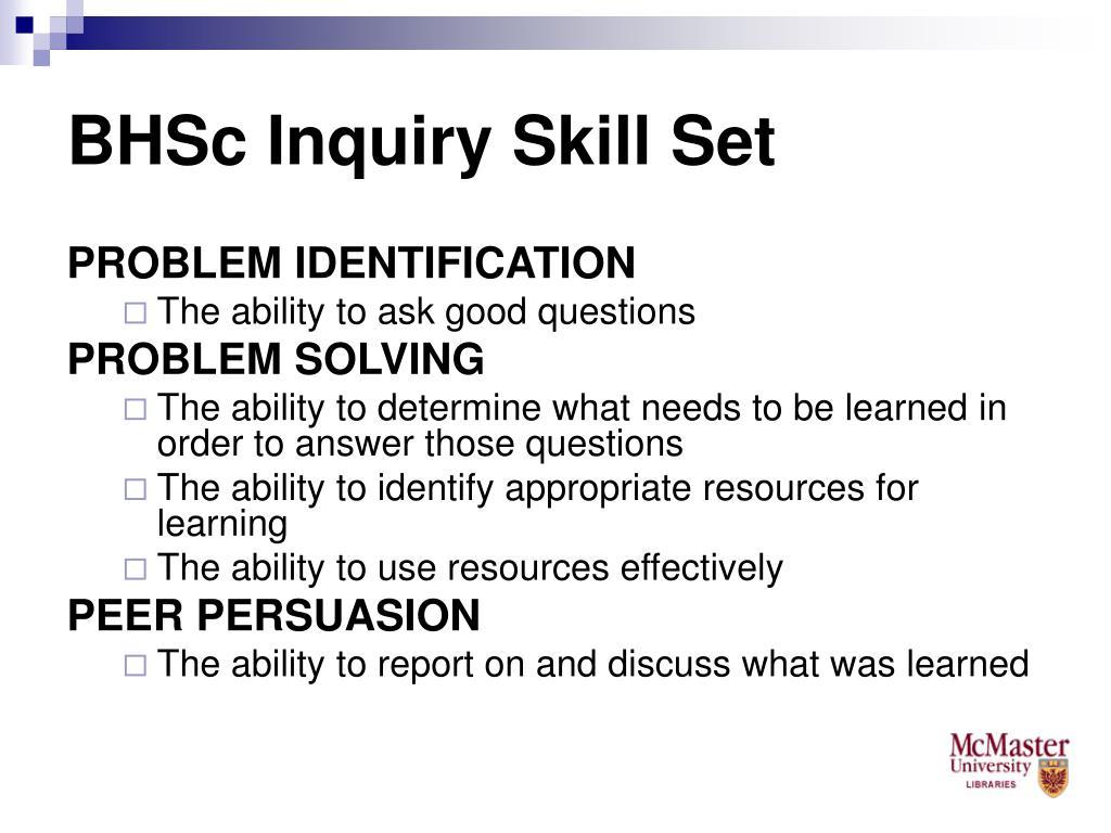 BHSc Inquiry Skill Set