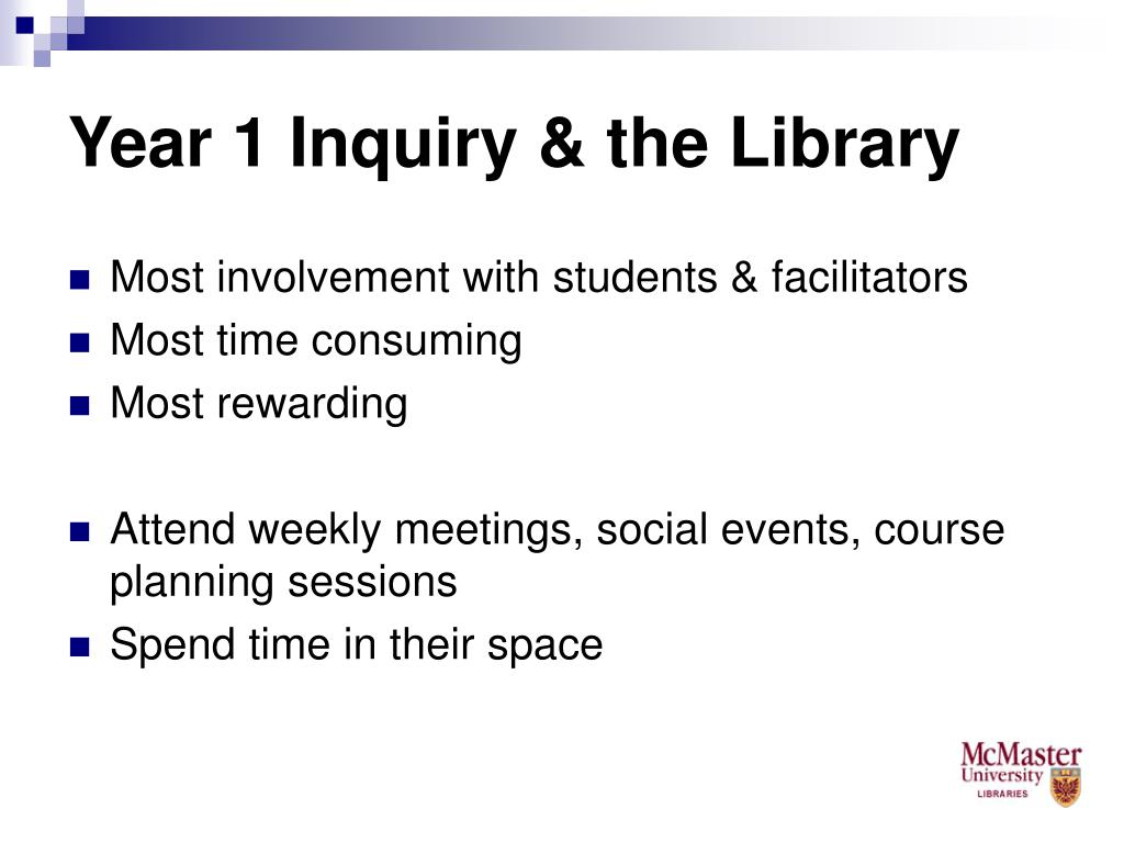 Year 1 Inquiry & the Library