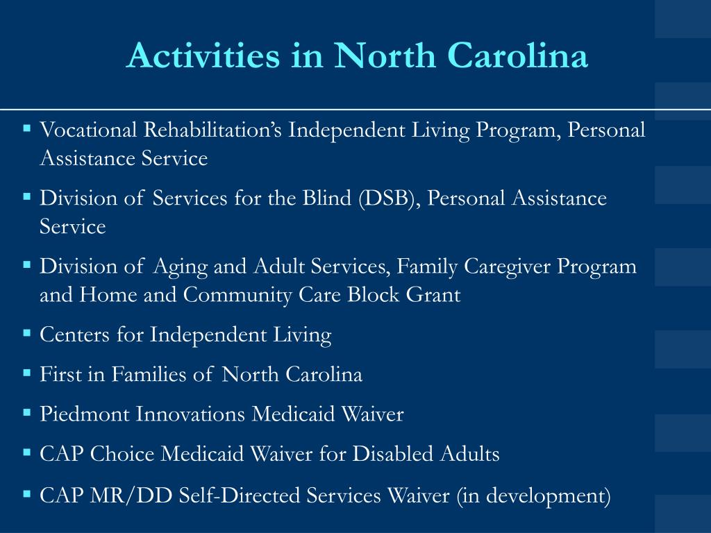 Activities in North Carolina