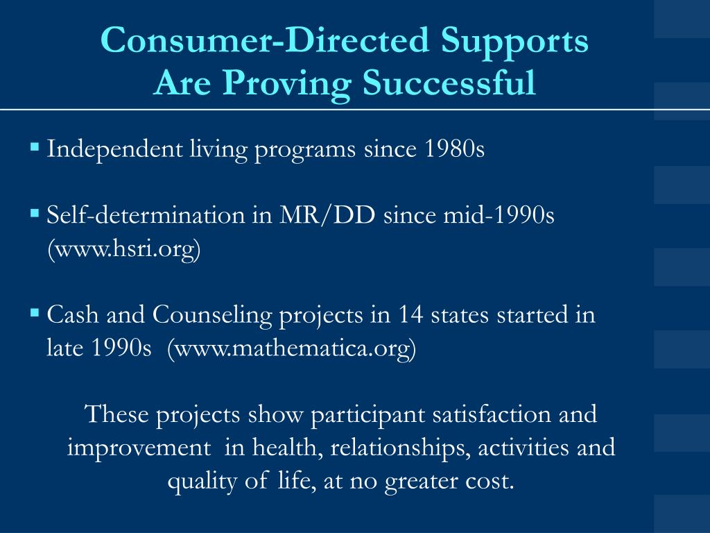 Consumer-Directed Supports