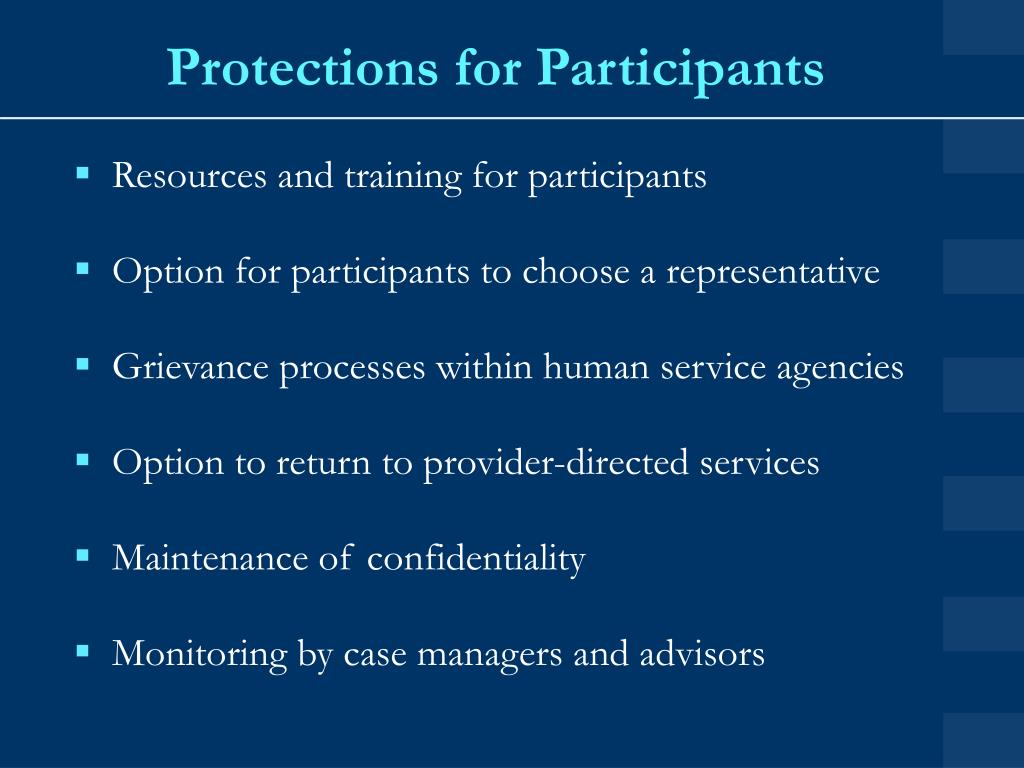 Protections for Participants