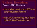 evaluate everything physical and electronic35