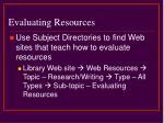 evaluating resources24