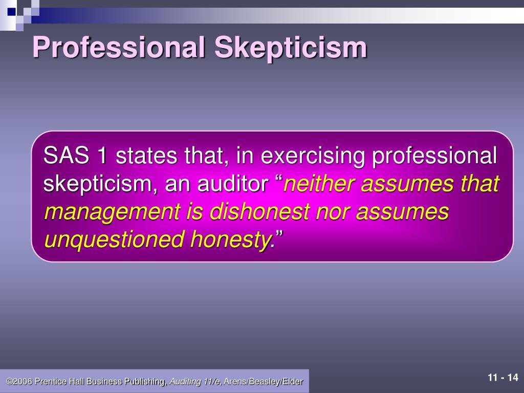 Professional Skepticism