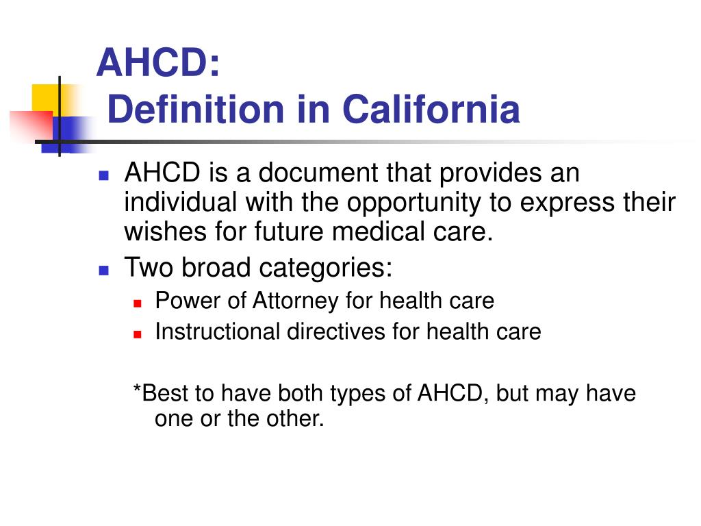 Definition Durable Power Of Attorney For Health Care