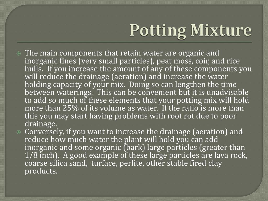 Potting Mixture