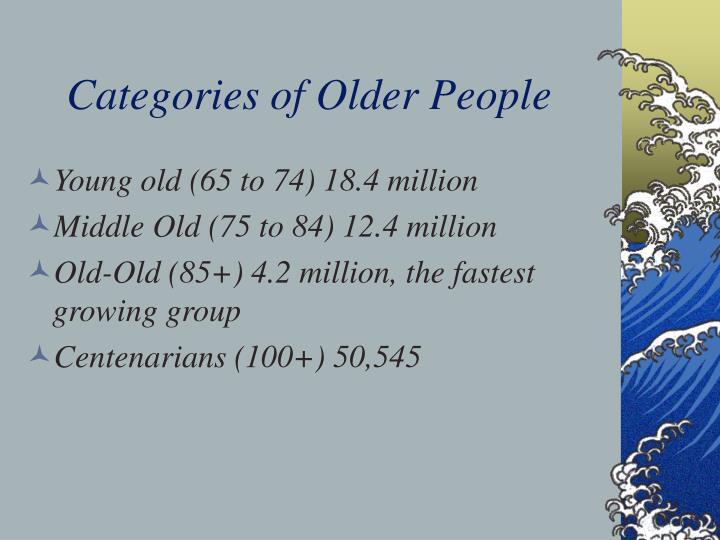 Categories of older people
