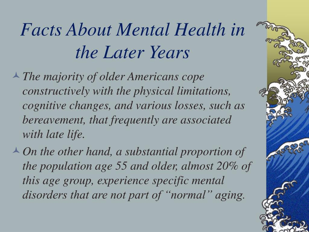 Facts About Mental Health in the Later Years