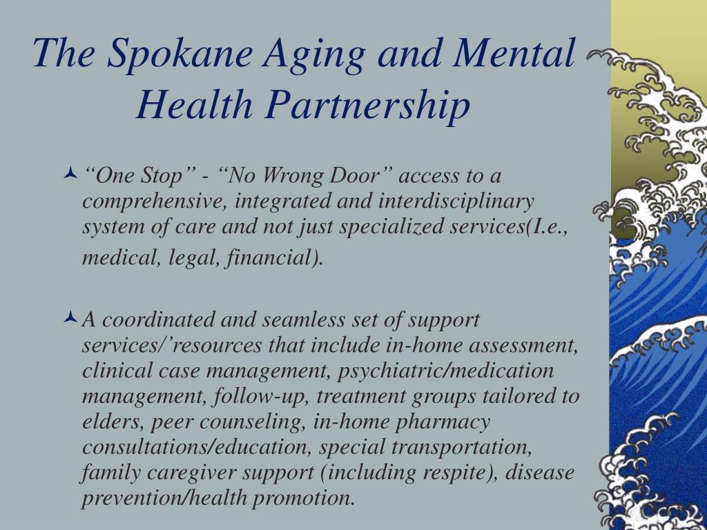 The Spokane Aging and Mental Health Partnership