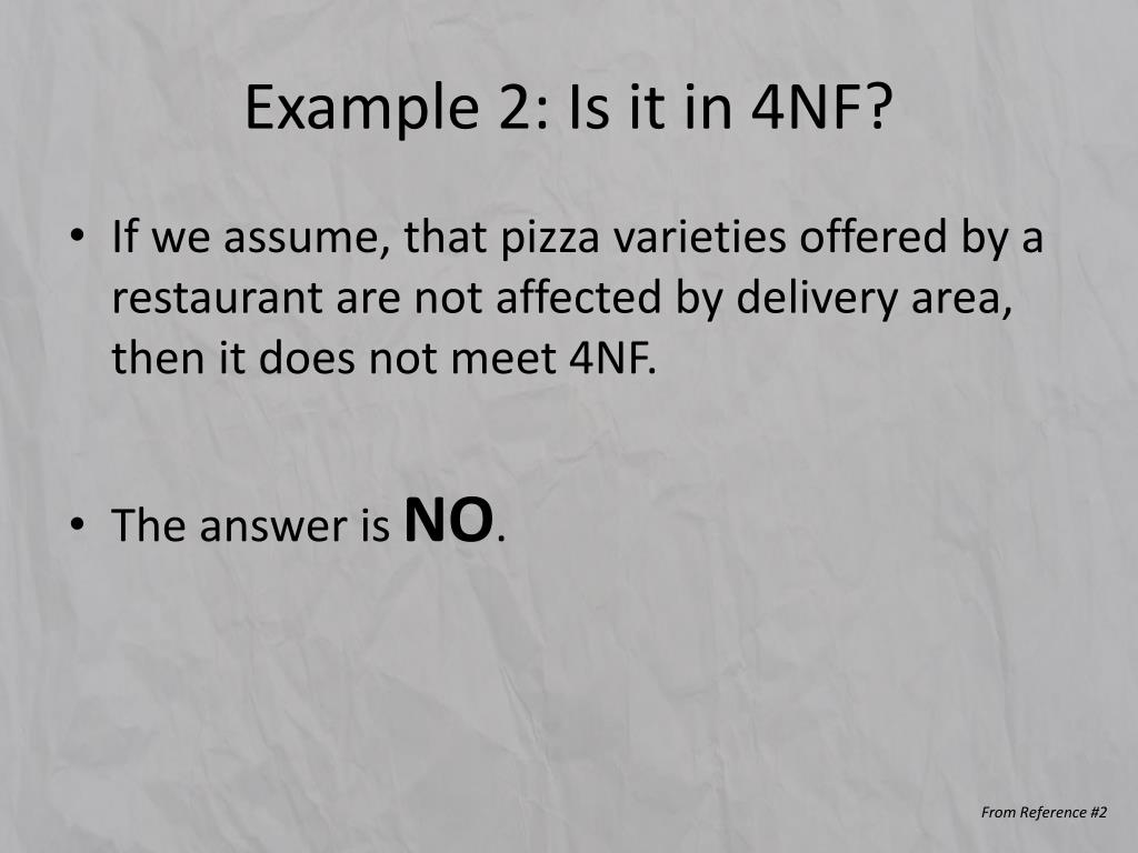 Example 2: Is it in 4NF?