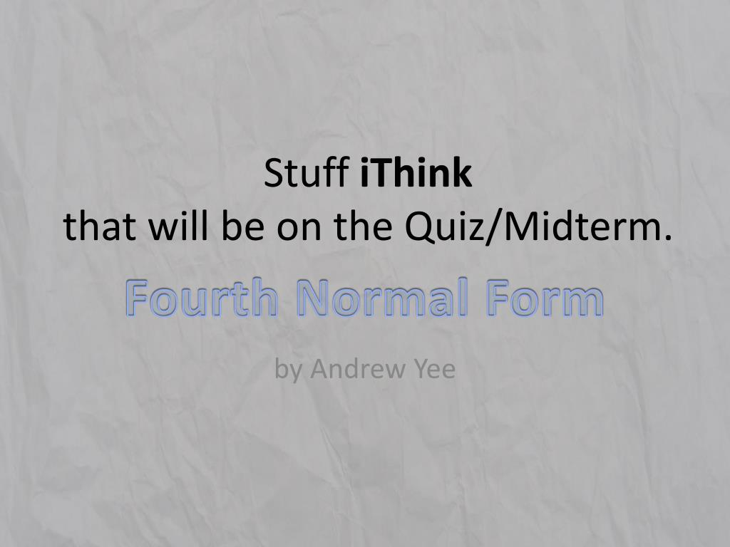 stuff ithink that will be on the quiz midterm l.