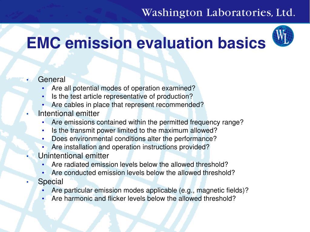 EMC emission evaluation basics