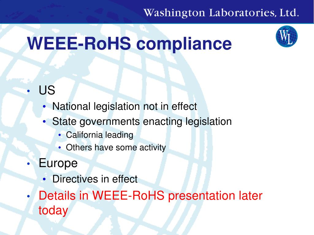 WEEE-RoHS compliance