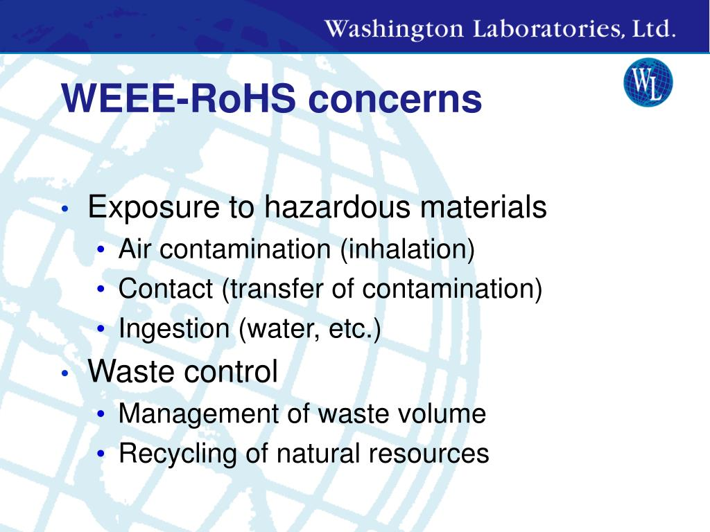 WEEE-RoHS concerns