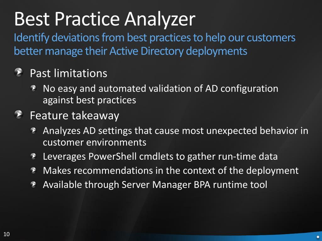 Best Practice Analyzer